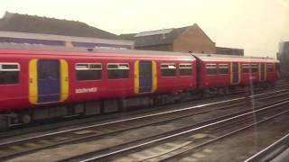 getlinkyoutube.com-South West Trains class 455 Waterloo to Clapham Junction
