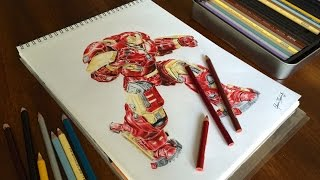 getlinkyoutube.com-Drawing the Hulkbuster Time-Lapse