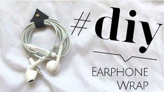 getlinkyoutube.com-D.I.Y Earphone Wrap tutorial - How to organize your Headphones (Accessories)