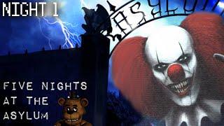 getlinkyoutube.com-FIVE NIGHTS AT THE ASYLUM - Night 1 - THE MURDER CLOWN