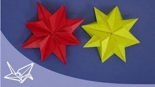 getlinkyoutube.com-Origami Stern für Weihnachten - Faltanleitung