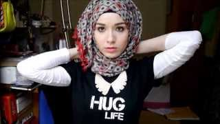 getlinkyoutube.com-3 Easy Summer Hijab Tutorials