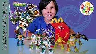 getlinkyoutube.com-2016 TMNT Happy Meal McDonalds Toys | Complete Set of 8 Boys Toys Figures Lucas World Review