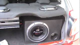 getlinkyoutube.com-Subwoofer Pioneer 12' com módulo Roadstar V12