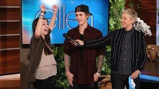 getlinkyoutube.com-Justin Bieber and Ellen Play Humdinger