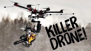 getlinkyoutube.com-KILLERDRONE! Flying chainsaw