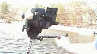 getlinkyoutube.com-Weedeater Boat Motor