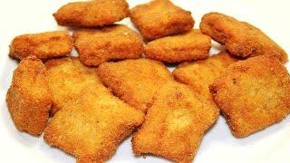 طريقة عمل الناجتس في المنزل مثل الجاهز - ناجتس الدجاج - كفتة الفراخ المقلية - Chicken Nuggets
