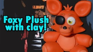 getlinkyoutube.com-Foxy Plush Version Five Nights at Freddy's Tutorial Porcelana fria / Cold porcelain
