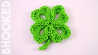 getlinkyoutube.com-How to Crochet a Four Leaf Clover