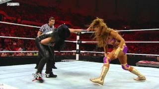 getlinkyoutube.com-Raw: Kelly Kelly & Eve vs. Maryse & Melina