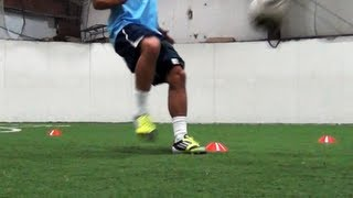 getlinkyoutube.com-Soccer Speed and Agility | 4 Cone Drill