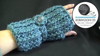 getlinkyoutube.com-Cozy Fingerless Gloves Crochet Tutorial