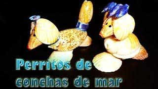 getlinkyoutube.com-Perritos con conchas de mar, Adornos para la casa --DIY