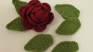 getlinkyoutube.com-كروشيه ورقة شجر Crochet Leaf 1