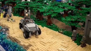 getlinkyoutube.com-Giant LEGO Halo display - BrickFair Virginia 2014