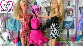 getlinkyoutube.com-Мультфильм для девочек: Кукла Штеффи и Барби Магазин модной одежды для кукол Барби Barbie Fashion