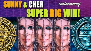 getlinkyoutube.com-SUNNY & CHER - *SUPER BIG WIN* - Slot Machine Bonus (Casinomannj)