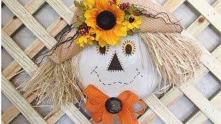 getlinkyoutube.com-Scarecrow Wreath Super Easy!