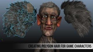 getlinkyoutube.com-Creating Polygon Hair for Game Characters