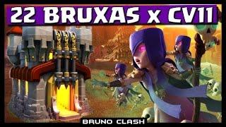 getlinkyoutube.com-22 BRUXAS Nvl 3 x CV 11 na Guerra !! - Clash of Clans - Bruno Clash