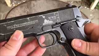 getlinkyoutube.com-Colt 1911 WWII Commemorative Review / Test Co2 4,5mm BB