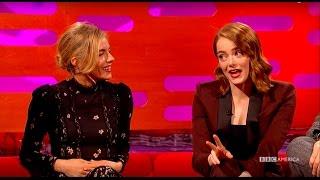 "getlinkyoutube.com-Emma Stone and Sienna Miller Compare ""Cabaret"" Catastrophes - The Graham Norton Show"