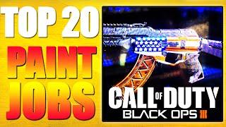 """getlinkyoutube.com-Top 20 """"PAINT JOBS"""" in Black Ops 3 Paint Shop - Ep.1 (Top 20 - Top Twenty)"""