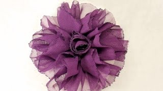getlinkyoutube.com-DIY, How to make Shaby Chic Fabric Flower, Tutorial