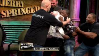 getlinkyoutube.com-Fight Night: Twin Sister Betrayal (The Jerry Springer Show)