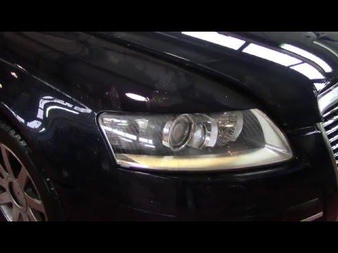 Замена лампы фары Ауди А6/Replacement lamp headlights AUDI A6
