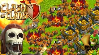 "getlinkyoutube.com-CLASH OF CLANS -ALL WALL BREAKERS! 3 STARRING A VILLAGE! WTF! ""FUNNY MOMENTS+MAX TROOPS VS MIN BASE"""