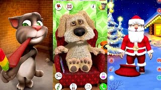 getlinkyoutube.com-Talking Tom Vs Talking Ben Vs Talking Santa Claus iPad iOS Gameplay HD