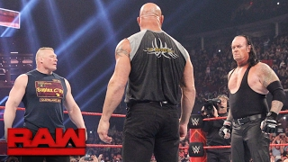 Brock Lesnar goes face-to-face with Goldberg and The Undertaker: Raw, Jan. 23, 2017 width=