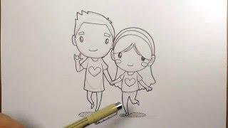 getlinkyoutube.com-สอนวาดรูป การ์ตูน คู่รัก วาดการ์ตูน กันเถอะ