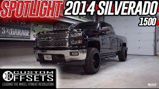 getlinkyoutube.com-Spotlight- 2014 Silverado 1500, Leveled, 20x12's and 285s!
