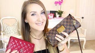 getlinkyoutube.com-LV Eva Clutch Review & Chanel WOC (I LOVE SMALL BAGS.)