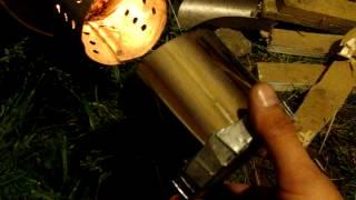 getlinkyoutube.com-Походная легкая самодельная печка