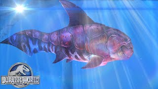 getlinkyoutube.com-Jurassic World The Game: Max Level 40 Dunkleosteus | The Aquatic Park