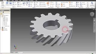 getlinkyoutube.com-How to make a Helical Gear INVENTOR 2011