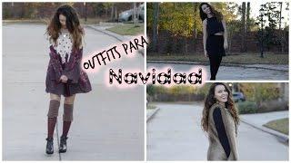 getlinkyoutube.com-Outfits para navidad + GANADORA DEL GIVEAWAY ☃.