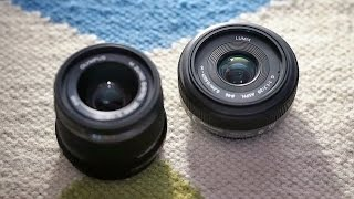 getlinkyoutube.com-Panasonic 20mm f/1.7 vs. Olympus 25mm f/1.8 Micro 4/3 lens