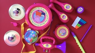 getlinkyoutube.com-Peppa Pig Toys - Peppa Pig Musical Instruments Band Set!