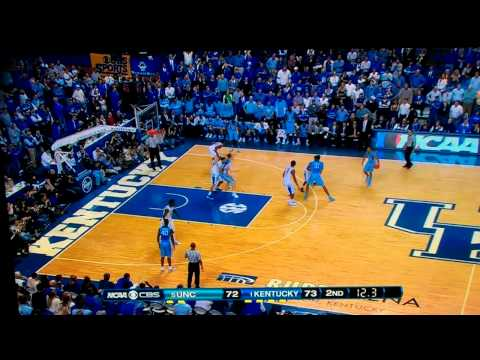 Anthony Davis HUGE Game Winning Block vs UNC North Carolina 12/03/2011