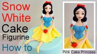 getlinkyoutube.com-Snow White Cake Figurine how to by Pink Cake Princess