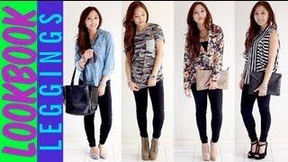 getlinkyoutube.com-How to wear leggings as pants - Spring Lookbook