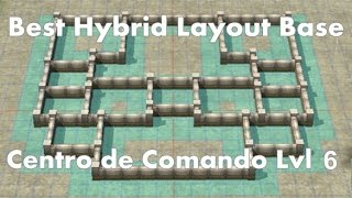 Call of Duty: Heroes - Command Center Level 6 - Best Hybrid Base Layout Defense (English subtitles)