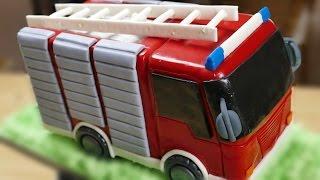 getlinkyoutube.com-Feuerwehr Torte |  Motivtorte | Fondanttorte | How to make a Fire Truck Cake