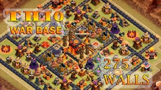 getlinkyoutube.com-CLASH OF CLANS | TOWN HALL 10 (TH10)  |  275 WALLS  |  BEST CLAN WAR BASE | AFTER  HALLOWEEN UPDATE