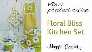 getlinkyoutube.com-Floral Bliss Kitchen Set Crochet Pattern Product Review PB091